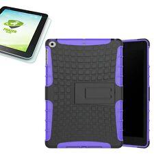 Hybrid Outdoor Hülle Lila für Apple iPad 9.7 2017 Tasche + H9 Panzerglas Case