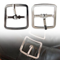 25mm Metal Silver Belt Buckle for Leather Work Arts and Crafts Jackets Coat 2pcs