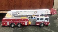 "Vintage Tonka Fire Truck #36 Tower Ladder #03473 Length 36"" Huge New batteries"