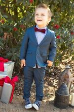 Fashion Wedding Page Boys Kids Tuxedos Custom Made Babys Toddlers Party Suits