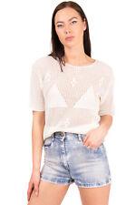 RRP €260 JUST CAVALLI Denim Shorts Size 26 Faded Embellished
