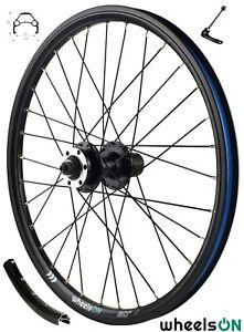 20 inch QR wheelsON Rear Wheel 7/8/9 Speed Cassette Eyelets Disc Brake 32H Black