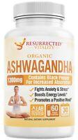 Organic Ashwagandha 1300mg High Potency Natural Anti-Stress Made In USA