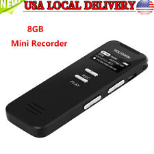Voice Recorder Dictaphone Activated Mini Spy Digital Sound Audio Mp3 Player