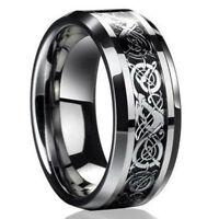 PT_ LC_ NUOVA Celtico DRAGONE Titanio Acciaio Inox uomo fascia anelli