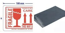20 Fragile This Way Up Handle With Care  Labels and 20 Poly Mailing Sacks Bags