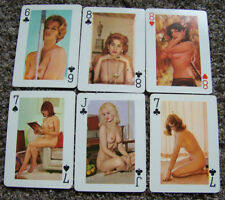 """Lot of 6 Vintage Esquire 5"""" X 7"""" Giant Playing Cards Pin Up Sexy Women Ladies 2"""