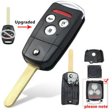 Ezzy Auto 3+1 Buttons Flip Key Shell Case Fob fit for Honda Accord CR-V Pilot Civic Fit Keyless Remote Entry