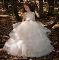 Flower Girl Dresses  Beading Appliqued Pageant Dresses For Girls First Communion