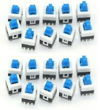20Pcs 7x7mm Latching Push Button On-Off Switch DIP-6pins - US seller