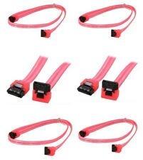 """6x 24"""" SATA-III 6.0GB/s 90 Degree Right Angle HD Data Cable with Latch"""