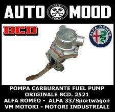 POMPA CARBURANTE FUEL PUMP ORIGINALE BCD 2521/5 ALFA ROMEO 33  VM MOTORI