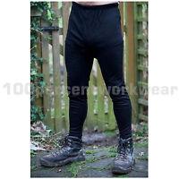 Warrior 0118TLBL Mens Black Thermal Long Johns Underwear Base Layer Winter Warm