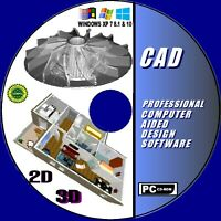 2D & 3D MODELING PROFESSIONAL CAD COMPUTER AIDED DESIGN MOST FORMATS NEW CD