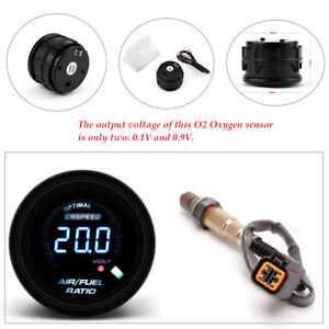 52MM/2'' GAS OIL 12V Digital AIR FUEL RATIO GAUGE KIT WITH O2 Oxygen Sensor set