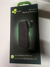 Pocket Size Back Up Battery/ Power Bank Micro-USB Charger For Android Cell Phone