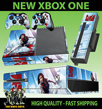 Xbox One Mirrors Edge Catalyst Faith Connors console autocollant peau & 2 x Pad