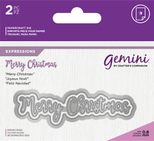 Gemini Essentials Only Words Collection Craft Cutting Dies - Merry Christmas