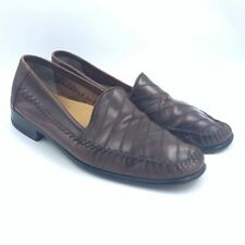 Giorgio Brutini Le Glove Mens Loafers Brown Striped Slip On Dress Shoes 12 D