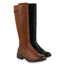 Damen Stiefel Reiterstiefel Gefütterte Reiter Boots 831431 Schuhe