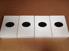 4x Lot Premium Quality Hinged Black Felt Jewelry Box Brand New (Topps Sterling)