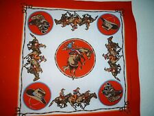 Cowboy Pillow panels Red Cotton/Poly NEW