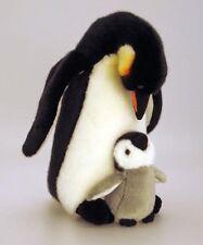 Keel Toys de pie Pingüino 30cm + 13cm Madre y Bebé Juguete Suave PAR
