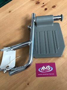 Aidapt Shower / Commode Chair Chrome Left Side Footrest / Leg Rest - Parts