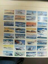 """COMPLETE SET LYONS TEA (CIGARETTE) CARDS """"HMS 1902-1962 """" (ROYAL NAVY WAR SHIPS)"""