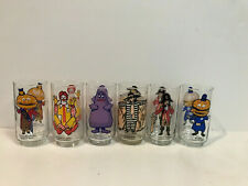 McDONALDS 1970's COMPLETE SET OF 6 COLLECTOR SERIES GLASSES GLASS