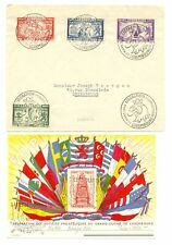 LUXEMBOURG 1945/1946-- 2 x COVER + 2 x CARD --F/VF