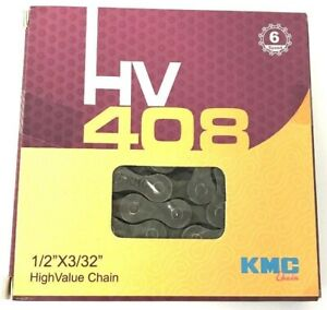 NEW ORIGINAL VINTAGE KMC CHAIN 1//2X3//32//116 Z33 6//SPEED IN 2 COLORS!