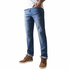 Urban Classics Ajustado Elástico Pantalones Vaqueros Hombre Ajustada Denim