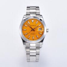 Parnis Orange Dial Men's Watches Calendar Miyota Automatic Mechanical Mens Watch
