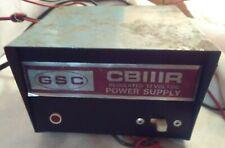 Gsc Model Cbiiir Regulated 12 Volt Dc Power Supply {Powers on, Lights up}