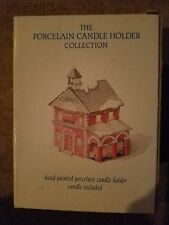 Rh Macy Christmas Porcelain Candle Holder Collection Fire Department Vintage