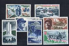 France 7 timbres non oblitérés gomme**  22 Figures historiques militaires