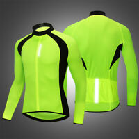 Men's Cycling Jersey Long Sleeve Breathable Team Bike Sports Tops Spring Autumn