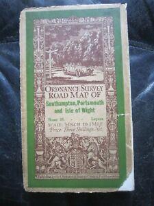 Ordnance Survey half inch road map 3 Southampton Portsmouth I O W  1926 cloth