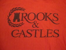 Crooks & Castles C&C Clothing Brand Logo Name Red T Shirt L