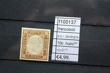 FRANCOBOLLI ITALIA ASI 10C SARDEGNA NUOVI (F100137)