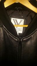 WOMENS LEATHER COAT BY Venezia SIZE 3X 26/28 LEATHER JACKET with SILK SLEEVES