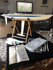 Vintage North Wind 36 America's Cup 36-600 Class Rc Sailboat With Stand Parts