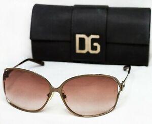 DOLCE & GABBANA Dg2043B Sunglasses butterfly brown gradient straz rhinestones