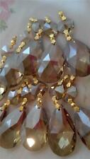5 Champagne Teardrop Chandelier Wedding Crystals Suncatcher Feng Shui Prism