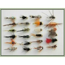 Goldhead Trout Flies, 24 x Goldhead Nymphs, Mixed Varieties, Size 10/12