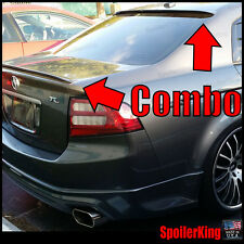 COMBO Rear Roof Wing & Trunk Lip Spoiler (Fits: Acura TL 2004-2008 UA 284R/284L)