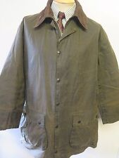 """Barbour A200 Border Waxed jacket - L 44"""" Euro 54 in Sage"""