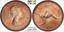 Australia - 1960 (P) Proof Penny PCGS PR66 RD - Rare! Red!