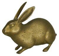 Rabbit Shape  Figure Statue Old Handmade Brass Sculpture Figurine , Rich Patina